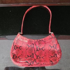 Isabella Fiore Red Snakeskin Handbag